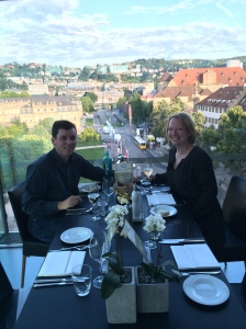 Dining at The Cube, a restaurant at the top of an art gallery with the best view