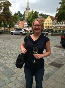 Visiting Kessler, a local sparkling wine producer
