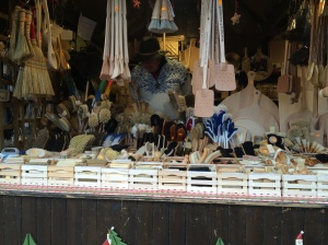 Christmas markets, for some reason that I could probably figure out if I researched it, all have at least one stall that sells handmade brushes of various styles of sizes.  They are a good place hang out to retreat from the crowds