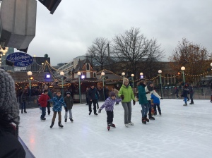 The small ice skating rink at the festival
